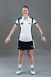 Umpire Julie Wilks signalling obstruction of player without ball