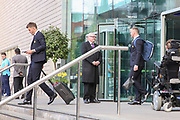 Michael Carrick Midfielder of Manchester United and Wayne Rooney Forward of Manchester United depart the Lowry hotel before the Manchester United vs Celta Vigo match  at Old Trafford, Manchester, United Kingdom on 11 May 2017. Photo by Phil Duncan.