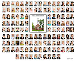 The 2012 Yale Divinity School Senior Portraits Composite Photograph. Full Color Version.
