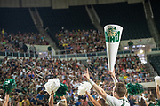 Ohio University cheerleaders particpate in the First Year Student Convoccation.