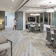 FS Design Group has created a stylish and peaceful clinic using muted color and clean modern lines.