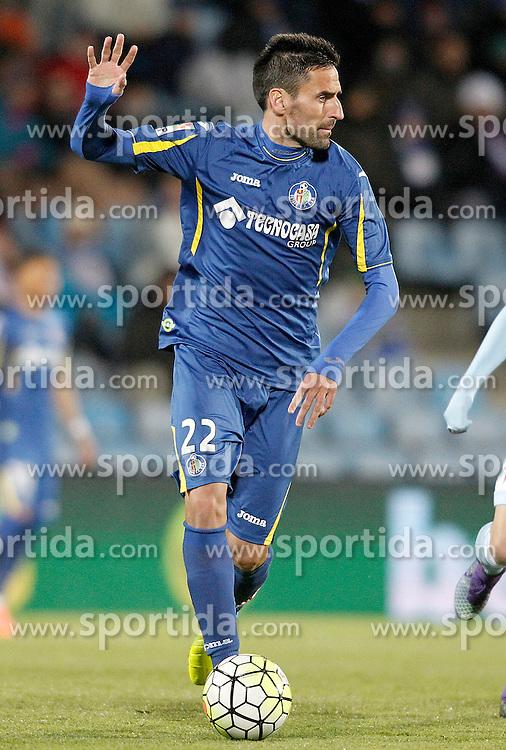 27.02.2016, Estadio Balaidos, Vigo, ESP, Primera Division, Getafe CF vs RC Celta, 26. Runde, im Bild Getafe's Juan Rodriguez // during the Spanish Primera Division 26th round match between Getafe CF and RC Celta at the Estadio Balaidos in Vigo, Spain on 2016/02/27. EXPA Pictures &copy; 2016, PhotoCredit: EXPA/ Alterphotos/ Acero<br /> <br /> *****ATTENTION - OUT of ESP, SUI*****