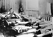 Survivors of the explosion of the Atom bomb at Hiroshima 1945 suffering the effects of radiation.  ICRC photograph.