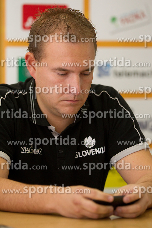 Matej Avanzo, team director at press conference after last game of Slovenian basketball team during FIBA Europe Eurobasket Lithuania 2011, on September 18, 2011, in Kaunas, Lithuania. (Photo by Vid Ponikvar / Sportida)
