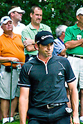 Sergio Garcia disgusted with his shot that went over the green at the Stanford St. Jude Golf Tournament 2008.