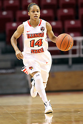 21 December 2015:  Lexie Taylor(14).Illinois State University Women's Basketball team hosted The Cougars of Chicago State at Redbird Arena in Normal Illinois.