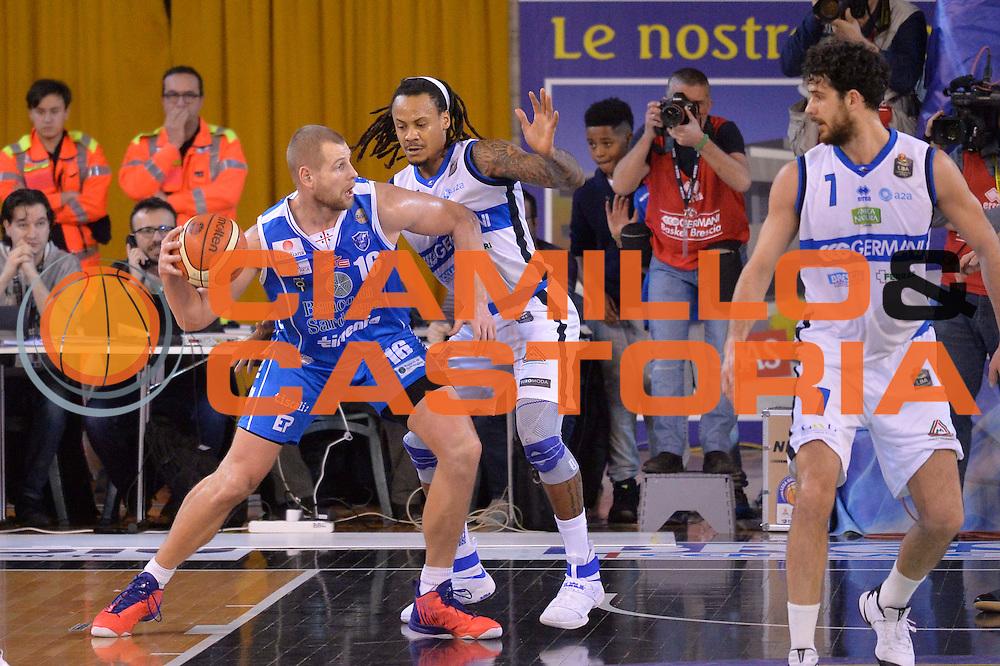Tautvydas Lydeka<br /> Germani Basket Brescia Leonessa - Banco di Sardegna Dinamo Sassari <br /> Lega Basket Serie A 2016/2017<br /> Montichiari, 05/02/2017<br /> Foto Ciamillo-Castoria