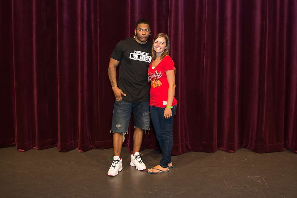 Nelly meeting fans at the 2017 Decatur Celebration.
