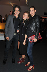 STEPHEN & ASSIA WEBSTER and their daughter AMY at the Private View of the Pavilion of Art & Design London 2011 held in Berkeley Square, London on 10th October 2011.