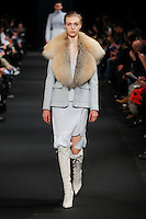Hedvig Palm (NEXT) walks the runway wearing Altuzarra Fall 2015 during Mercedes-Benz Fashion Week in New York on February 14, 2015