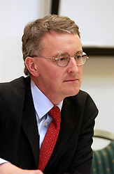 Hilary Benn MP speaking at International Solidarity Conference set up by Northern TUC; Newcastle 2005 UK