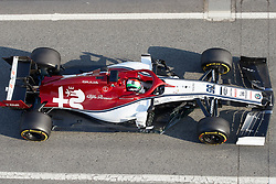 February 19, 2019 - Montmelo, BARCELONA, Spain - Antonio Giovinazzi (Alfa Romeo Sauber F1 Team) seen in action during the winter test days at the Circuit de Catalunya in Montmelo (Catalonia), Tuesday, February 19, 2019. (Credit Image: © AFP7 via ZUMA Wire)