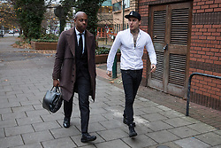 © Licensed to London News Pictures. 23/11/2016. London, UK. Marco Pierre White Jnr leaves Hammersmith Magistrates' Court to face a fraud trial. The former Big Brother star and son of the celebrity chef is accused of defrauding his ex-girlfriend by false representation. Photo credit : Tom Nicholson/LNP