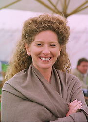 Designer KELLY HOPPEN, at a polo match in Berkshire on 26th July 1998.MJG 175
