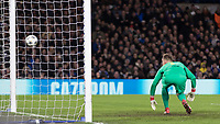 Football - 2017 / 2018 UEFA Champions League - Round of Sixteen, First Leg: Chelsea vs. Barcelona<br /> <br /> Marc-Andre ter Stegen (Barcelona) can only watch as the Chelsea attempt  rebounds off the post at Stamford Bridge.<br /> <br /> COLORSPORT/DANIEL BEARHAM