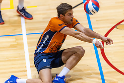 13-04-2019 NED: Achterhoek Orion - Draisma Dynamo, Doetinchem<br /> Orion win the fourth set and play the final round against Lycurgus. Dynamo won 2-3 / Peter Ogink #6 of Orion