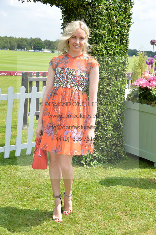 Nadja Abela at Cartier Queen's Cup Polo, Guard's Polo Club, Berkshire, England. 18 June 2017.<br /> Photo by Dominic O'Neill/SilverHub 0203 174 1069 sales@silverhubmedia.com