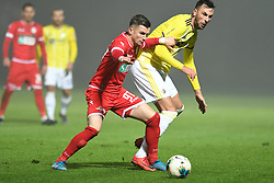 Mihael Klepac of Aluminij and Amir Dervišević of Maribor during football match between NK Aluminij and NK Maribor in 18th Round of Prva liga Telekom Slovenije 2019/20, on November 24, 2019 in Sportni park Aluminij, Kidricevo Slovenia. Photo by Milos Vujinovic / Sportida