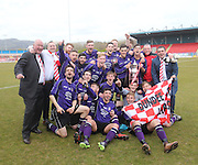 Argyle celebrate with the cup - Dundee Argyle win the Scottish Sunday Trophy beating Bullfrog in the final at Forthbank, Stirling<br /> <br />  <br />  - &copy; David Young - www.davidyoungphoto.co.uk - email: davidyoungphoto@gmail.com