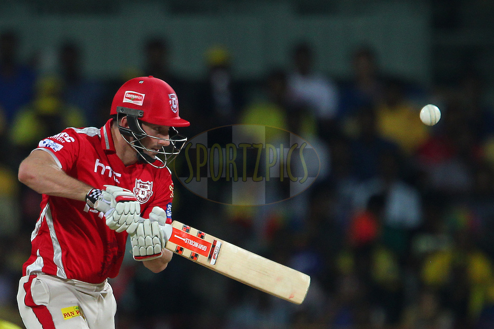 Shaun Marsh of Kings XI Punjab  during match 24 of the Pepsi IPL 2015 (Indian Premier League) between The Chennai Superkings and The Kings XI Punjab held at the M. A. Chidambaram Stadium, Chennai Stadium in Chennai, India on the 25th April 2015.<br /> <br /> Photo by:  Ron Gaunt / SPORTZPICS / IPL
