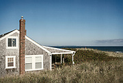 Rustic oceanfront cottage, Cape Cod, Massachusetts, USA.