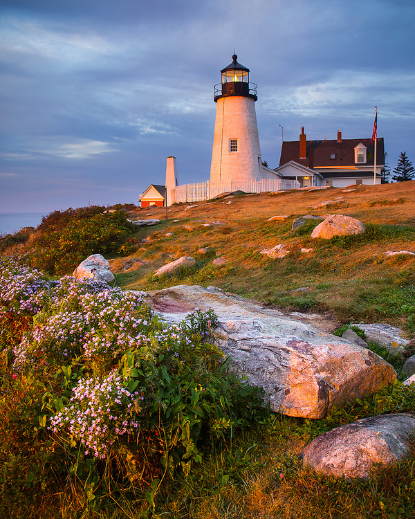 An end of the summer sunrise at Pemaquid Point Lighthouse