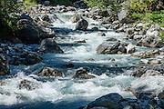 Sefinen Lütschine stream. Gimmelwald, Lauterbrunnen Valley. Switzerland, Europe.