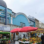 Food market and Electric cinema, Portobello, Nothing Hill, London, England, UK, Europe
