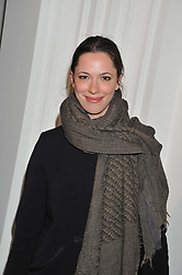 REBECCA HALL at a party to celebrate the launch of the new gallery Pace at 6 Burlington Gardens, London on 3rd October 2012.