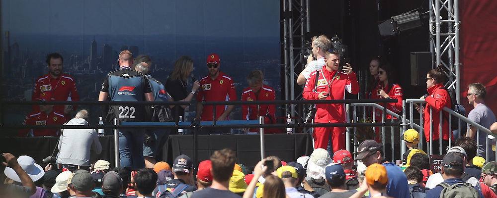 AU_1516651 - Melbourne, AUSTRALIA  -  Sebastian Vettel at the Australian Grand Prix at Albert Park in Melbourne Australia<br />