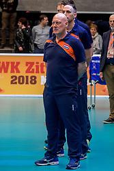 06-04-2017 NED:  CEV U18 Europees Kampioenschap vrouwen dag 5, Arnhem<br /> Nederland verliest met 3-1 van Italie en speelt voor de plaatsen 5-8 / Coach Julian de Vyver