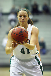 29 January 2011: Karen Solari during an NCAA Womens basketball game between the Carthage Reds and the Illinois Wesleyan Titans at Shirk Center in Bloomington Illinois.