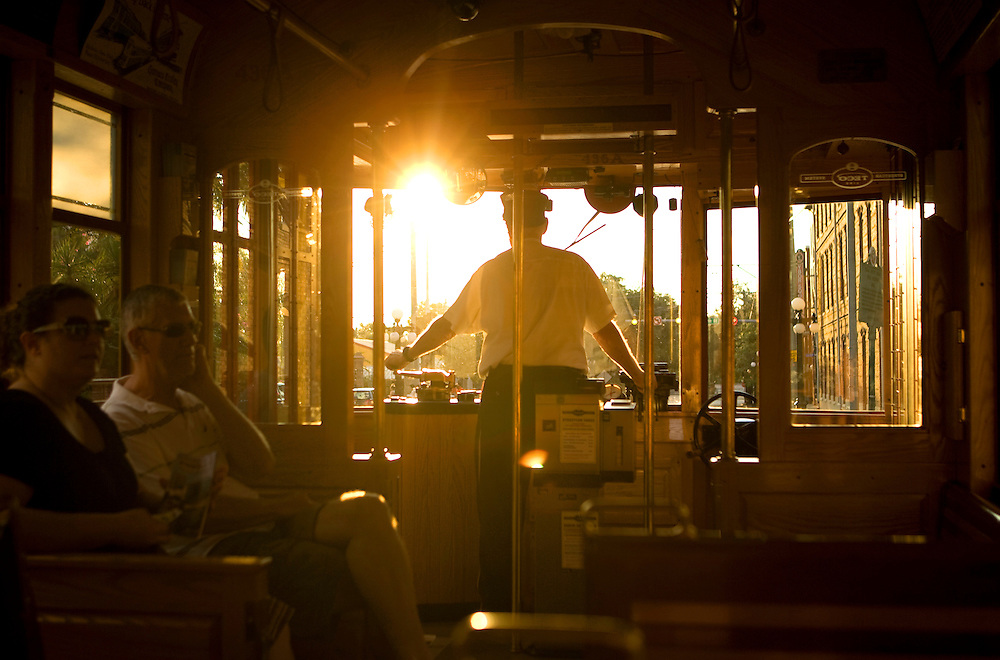 The Ybor City Streetcar, Ybor City, Florida