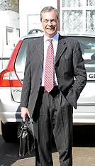 MAR 13 2014 Nigel Farage leaves his home, near Biggin Hill
