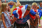 David Weir and family during the Muller Anniversary Games at the London Stadium, London, England on 9 July 2017. Photo by Martin Cole.