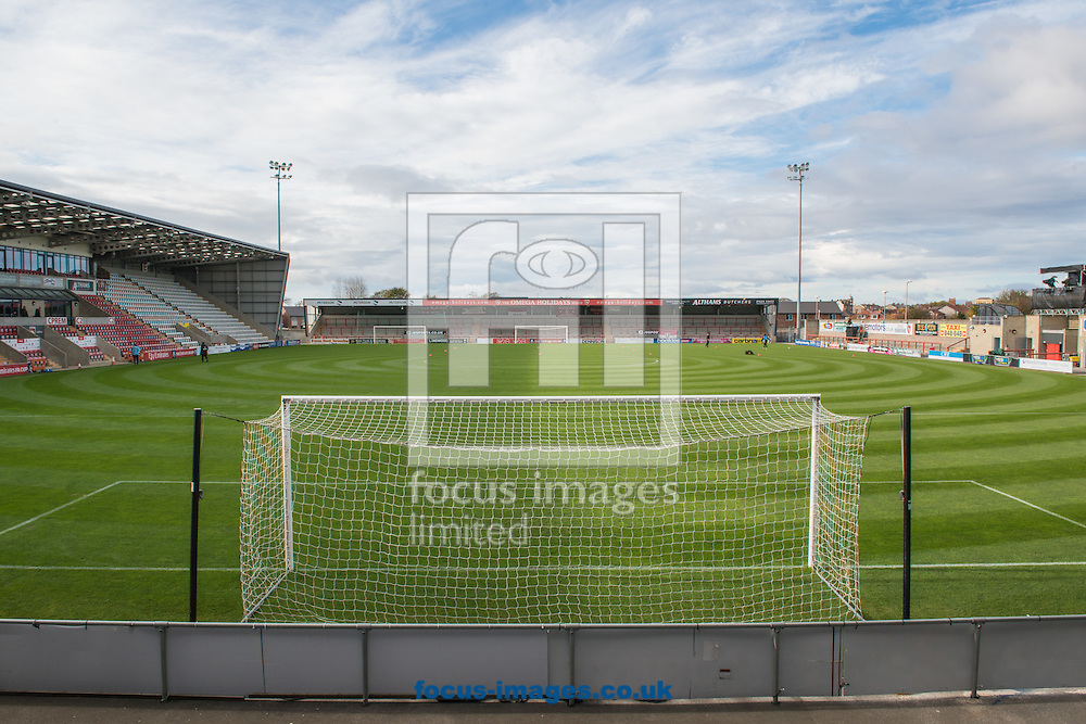 A general view of the Globe Arena, Morecambe prior to the first round FA Cup match between Morecambe and Coventry City<br /> Picture by Matt Wilkinson/Focus Images Ltd 07814 960751<br /> 06/11/2016