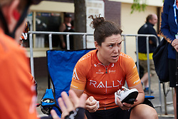 Chloe Hosking (AUS) talks about the plan for the day at Stage 3 of 2020 Santos Women's Tour Down Under, a 109.1 km road race from Nairne to Stirling, Australia on January 18, 2020. Photo by Sean Robinson/velofocus.com