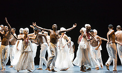 "© Licensed to London News Pictures. 07/07/2014. London, England. Claudio Segovia's show ""Brasil Brasileiro"" opens at Sadler's Wells Theatre with 35 performers from Rio de Janeiro. Conceived and directed by Claudio Segovia, this Brazilian music and dance show runs from 8-27 July 2014.  Photo credit: Bettina Strenske/LNP"