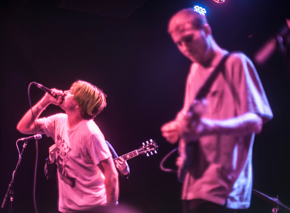 No Parents' Zoe Reign, left, and Davis LeDuke performing at Observatory Orange County May 4, 2016.