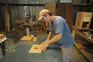 Kevin Waddell works at a new studio under development in Taylor, Miss. on Tuesday, August 10, 2010.