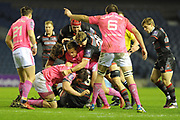 While a messy game at times, Edinburgh scrape a 34-33 win in the European Rugby Challenge Cup match between Edinburgh Rugby and Stade Francais at Murrayfield Stadium, Edinburgh, Scotland on 12 January 2018. Photo by Kevin Murray.