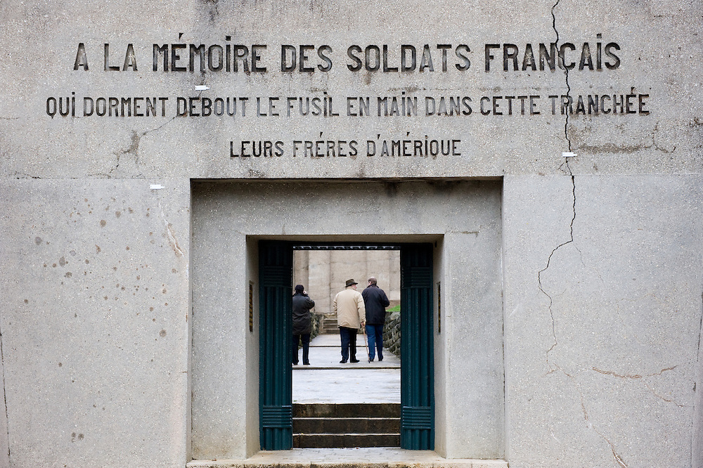 The entrance to the Memorial at the Trench of the Bayonets (Tranchée des Baïonnettes) where a unit of French soldiers were buried alive with the bayonets sticking out during the 300 day battle of Verdun. Verdun, Lorraine, France