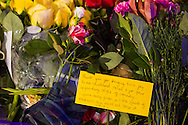 Flowers, messages and candles are left at actor Robin Williams' star on the Hollywood Walk of Fame on Tuesday August 12, 2014 in Los Angeles, California. Academy Award-winning actor and comedian Robin Williams was found dead in his Marin County home earlier Monday of an apparent suicide. He was 63 years old.<br />  (Photo by Ringo Chiu/PHOTOFORMULA.com)