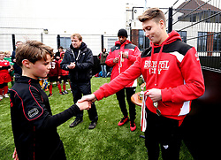 Mark Little and Luke Freeman of Bristol City hand out medals to the winning team - Mandatory by-line: Robbie Stephenson/JMP - 23/11/2016 - FOOTBALL - South Bristol Sports Centre - Bristol, England - BCCT EFL Kids Cup
