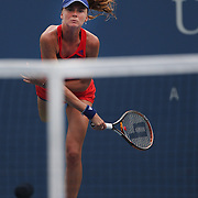 Daniela Hantuchova, Slovakia, in action against Alison Riske, USA, during the Women's Singles competition at the US Open. Flushing. New York, USA. 2nd September 2013. Photo Tim Clayton
