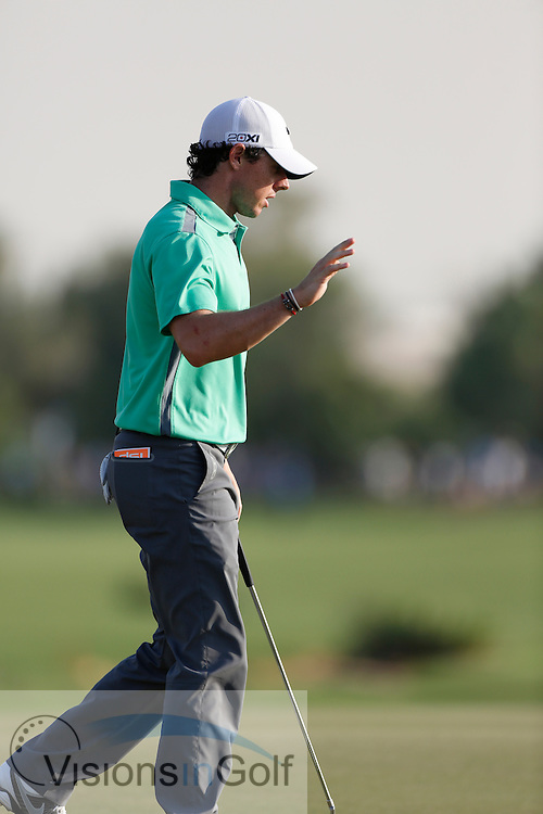 Rory McIlroy<br /> during the third round of the Race To Dubai DP World Tour Golf Championship, Dubai, UAE November  2013<br /> Picture Credit:  Mark Newcombe / www.visionsingolf.com