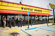 Saraland Alabama, May 20, 2018,<br /> Police in front of the Waffle House where of Chikesia  Clemons  was arrested. T