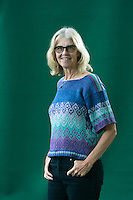 Edinburgh. UK. 18th August. Edinburgh International Book Festival. Day 4 Edinburgh International Book Festival takes place in Charlotte Square Gardens. Pictured Jane Smiley. Pako Mera