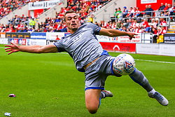 Harry Toffolo of Lincoln City attempts to keep the ball in play - Mandatory by-line: Ryan Crockett/JMP - 10/08/2019 - FOOTBALL - Aesseal New York Stadium - Rotherham, England - Rotherham United v Lincoln City - Sky Bet League One