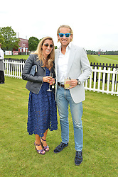 JAKE & SAMIRA PARKINSON-SMITH at the Cartier Queen's Cup Final 2016 held at Guards Polo Club, Smiths Lawn, Windsor Great Park, Egham, Surrey on 11th June 2016.